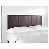 Seetall Haddon Headboard Chocolate Faux Leather Double