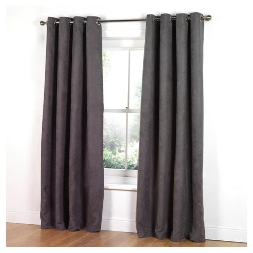 Black Faux Suede Eyelet Curtains - Best Curtains 2017