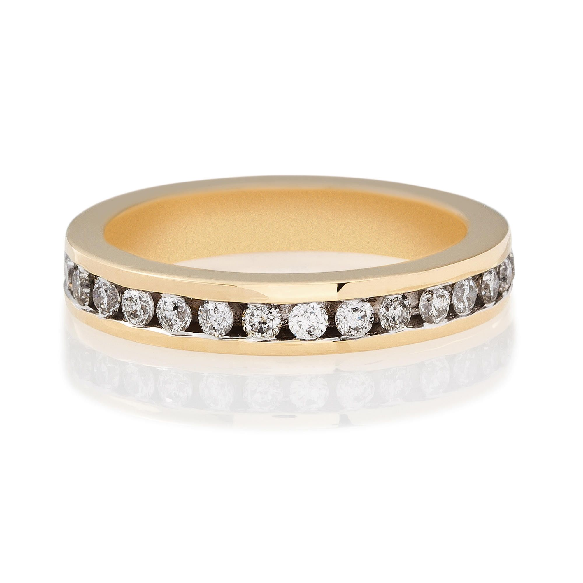 9ct Gold 1/2ct Diamond Eternity Ring, N at Tesco Direct