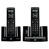 BT Stratus 1500 DECT Twin Telephone and Answering Machine Black
