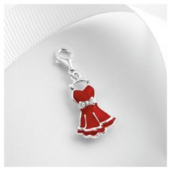 Sterling Silver Red Dress Charm