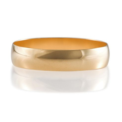 9ct Yellow Gold Mens 5mm Wedding Band, T