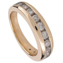 9ct Gold 50Pt Diamond Eternity Ring, R