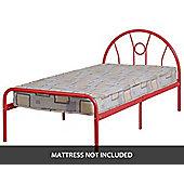 ValuFurniture Nova 3 0 inch Single Bed in Red