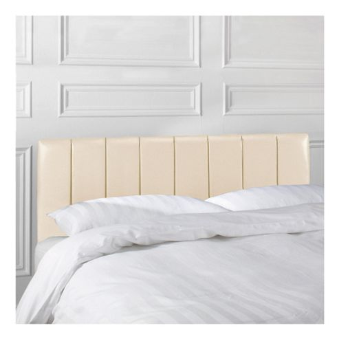 Seetall Haddon Headboard Cream Faux Leather Double