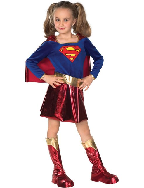Child Deluxe Supergirl Super Hero Costume Large
