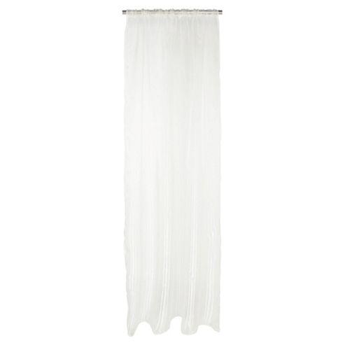 Tesco Plain Voile Channel Top Curtains W137xL229cm (54x90