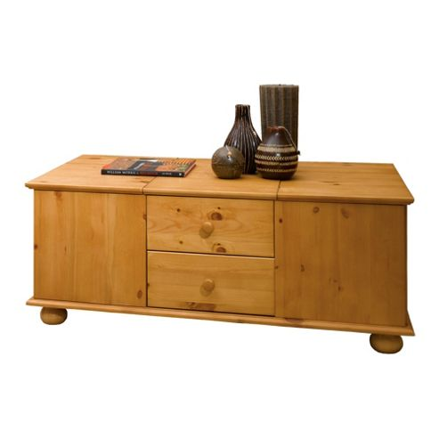 Buy vermont pine coffee table with storage from our coffee for Pine coffee table with storage