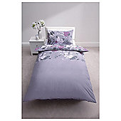 Oriental Flower Print Duvet Cover Set Single