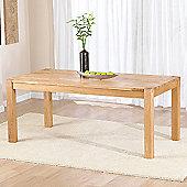 Mark Harris Furniture Verona Dark 120cm Dining Table in Solid Oak