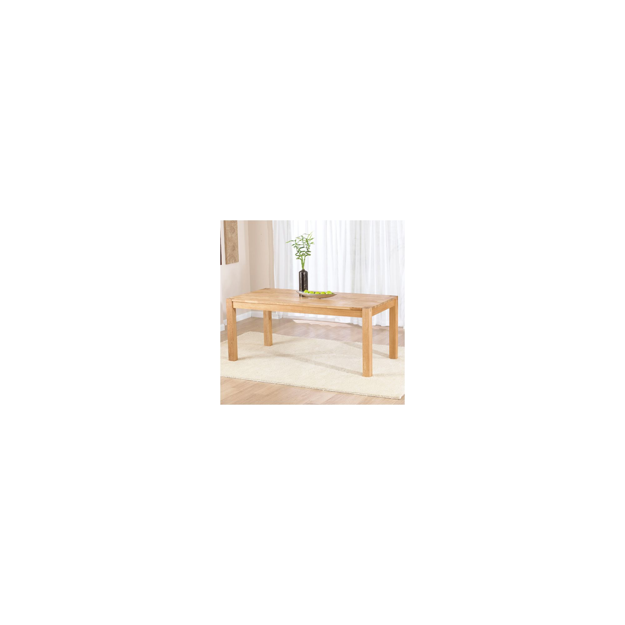 Mark Harris Furniture Verona Dark 120cm Dining Table in Solid Oak
