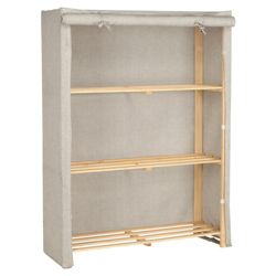 Tesco recycled fabric covered 3 shelf unit
