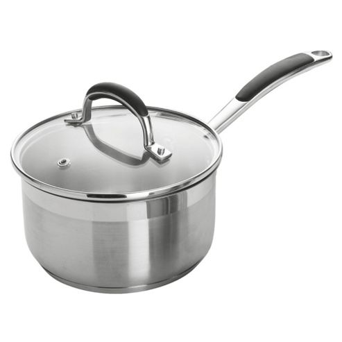 Go Cook 16cm Saucepan with Lid, Stainless Steel