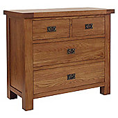 Rustic Grange Brooklyn BLCOD5 Rustic Oak Chest of Drawers