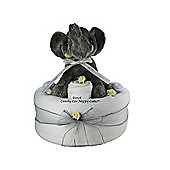 Unisex Baby Nappy Cake with Dumbo Elephant (Single Tier)