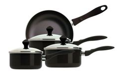 Prestige 18796 Urban Cookware Saucepan Set Black 4 Piece