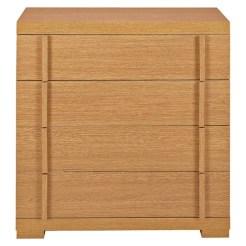 Brandon 4 Drawer Chest, Oak Effect