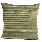 Homescapes Cotton Chenille Tie Dye Green Scatter Cushion, 45 x 45 cm