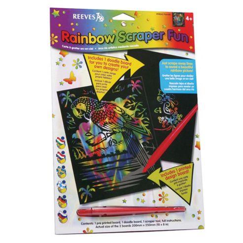 Reeves Rainbow Scraper Fun, 3 Pack