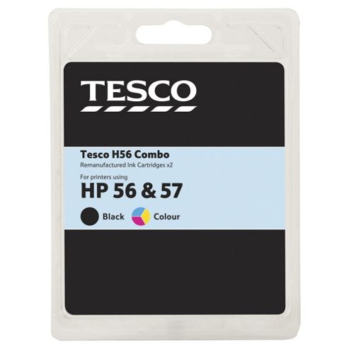TESCO HP H56/57 Black & Colour Combo - Tri-Colour