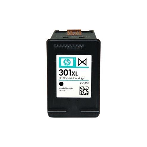 HP No. 301XL Ink Cartridge, Black, Inkjet, 480 Page, 1 / Pack, OEM