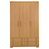 Brandon Triple Wardrobe, Oak-Effect