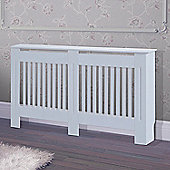 Homcom Radiator Cover Painted Slatted Cabinet MDF Lined Grill White 152L x 19W x 81H (cm)