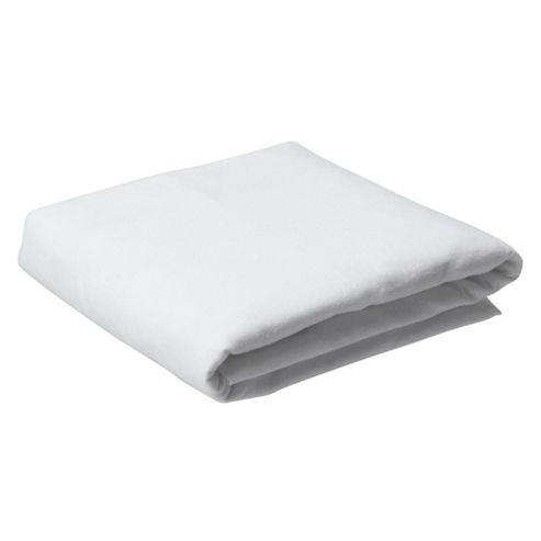 Tesco Brushed Cotton King Size Fitted Sheet, White