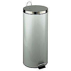 30L Kitchen Pedal Bin - Brushed Steel With Stainless Steel Lid