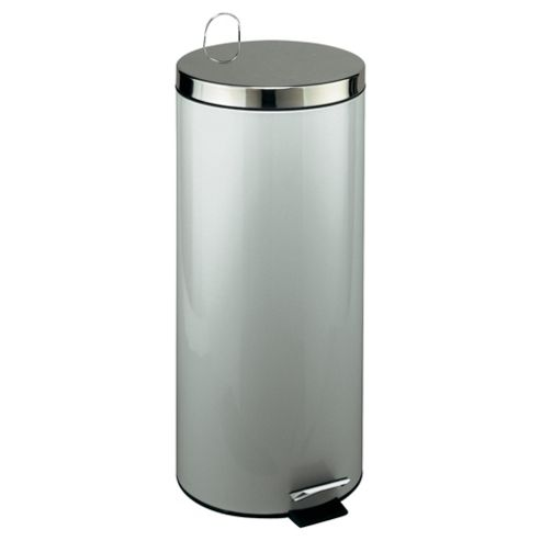 Tesco 30L Brushed Steel Pedal Kitchen Bin With Stainless Steel Lid