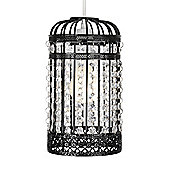 Birdcage Ceiling Pendant Light Shade in Black