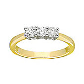 9ct Gold 0.33 Carat Three Stone Diamond Ring