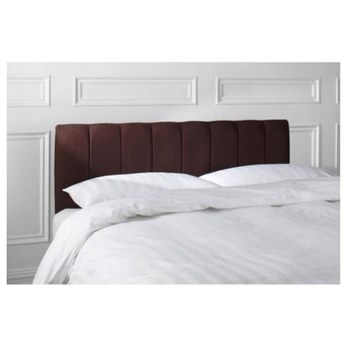 Haddon Double Faux Suede Headboard, Chocolate