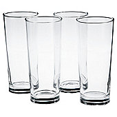 Tesco Tall Beer Glass, 4 Pack