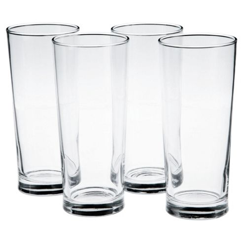 Tesco Set of 4 Tall Beer Glasses