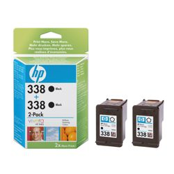 HP 338 Printer Ink Cartridge Twin Pack - Black (CB331EE)