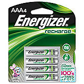 Energizer 632980 1000 Mah Aaa Rechargable Batteries Pack of 4