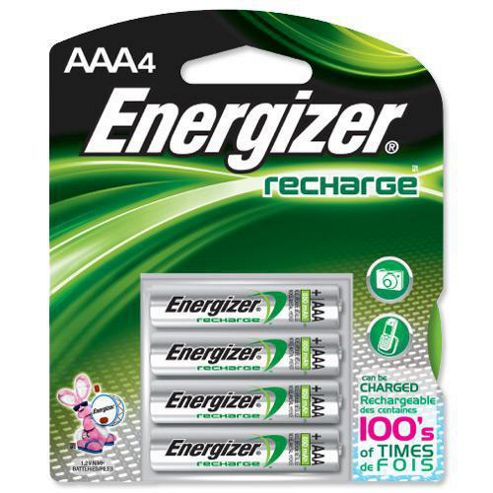 Energizer 632980 1000 Mah Aaa Rechargable Batteries Pack of 4