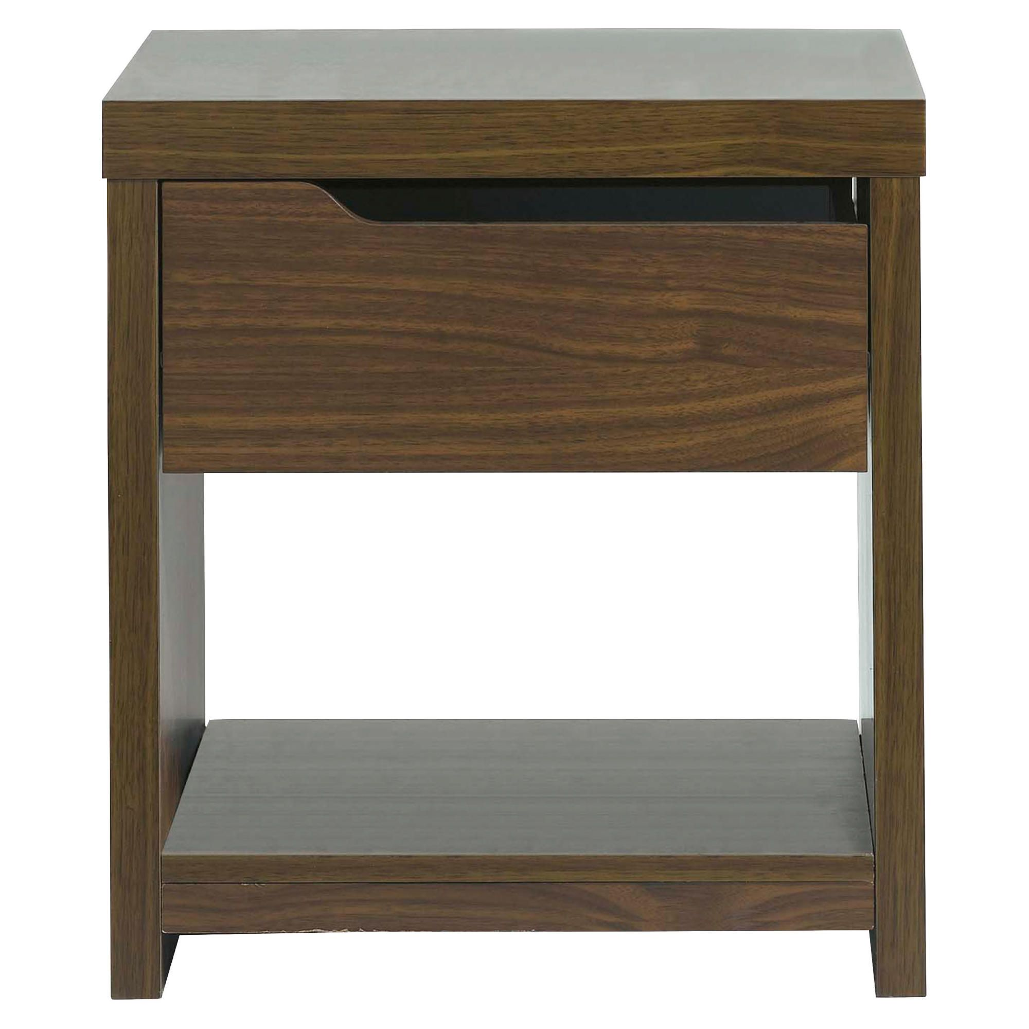 Tesco Seattle Side Table Walnut Effect
