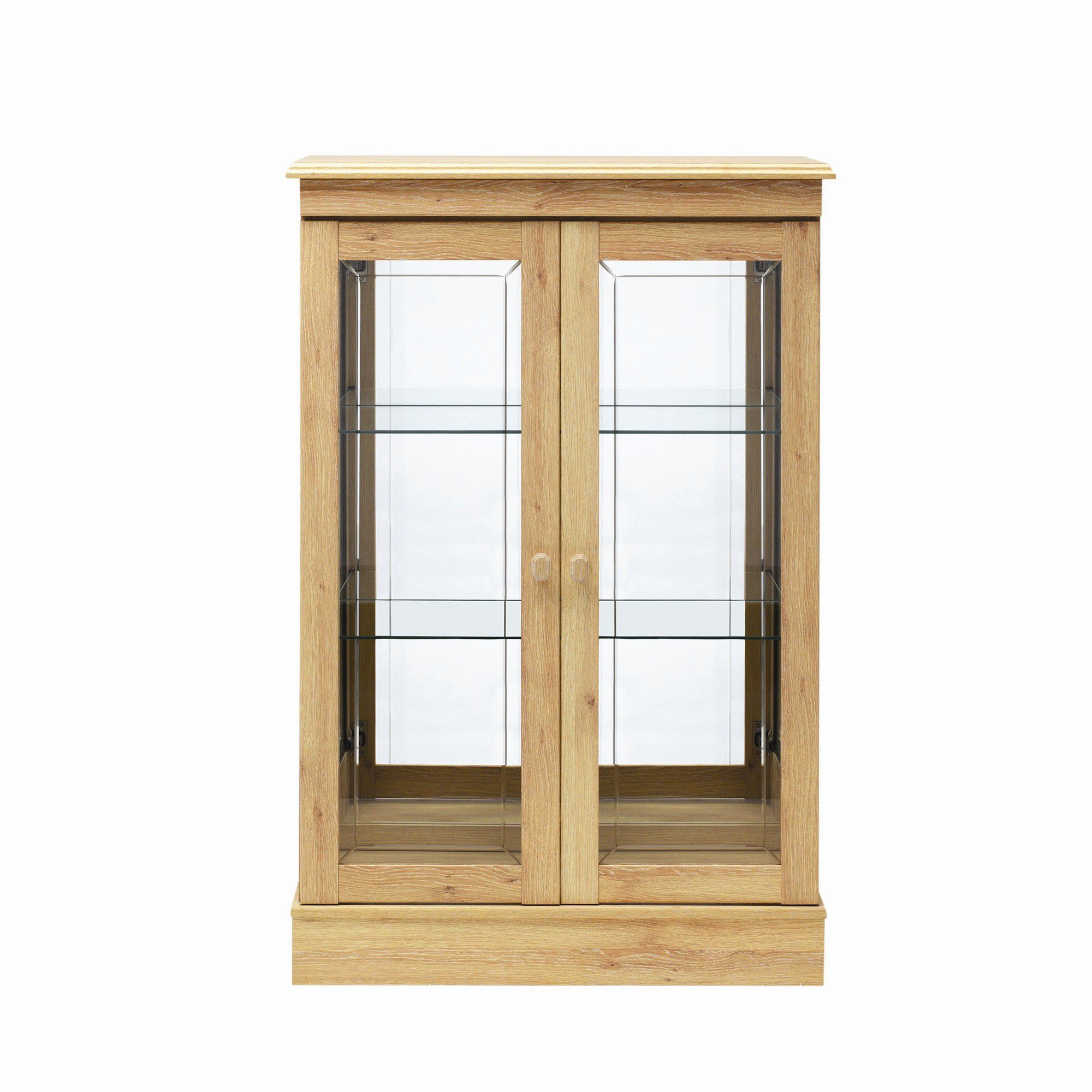Caxton Driftwood Low Display Cabinet in Limed Oak at Tesco Direct