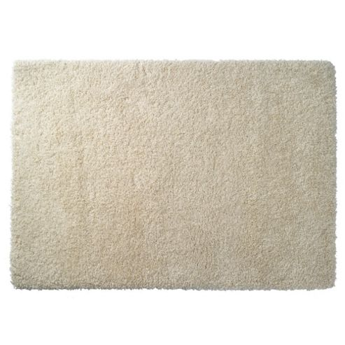 Tesco Rugs Extra Thick Shaggy Rug, Cream 120X170Cm