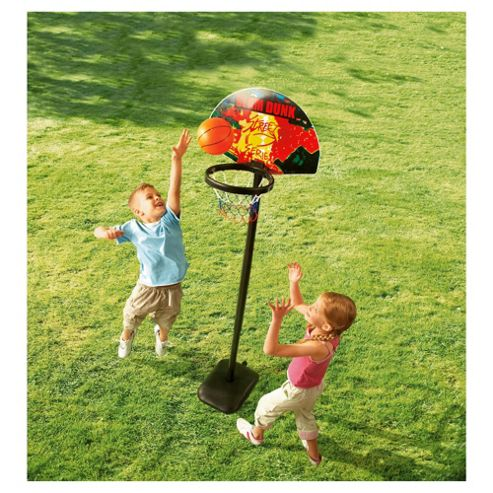 Tesco Garden Basketball Set, Red ( Colour and Style may Vary)