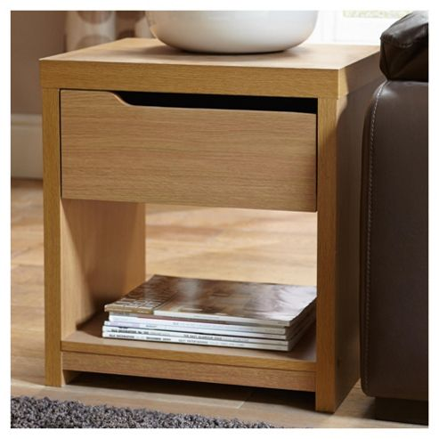 Seattle Side Table, Oak-effect