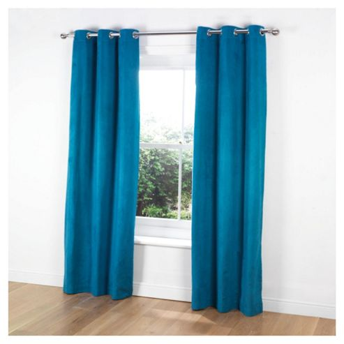 Tesco Faux Suede Unlined Eyelet Curtains W168xL229cm (66x90