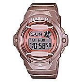 Casio Baby-G Ladies Champagne World Time Watch BG-169G-4ER