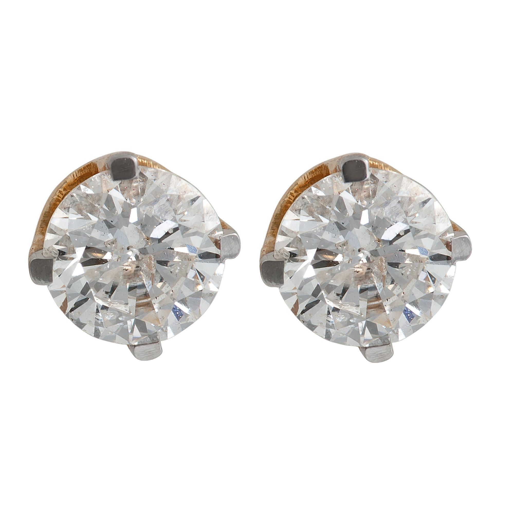 9ct Gold 1/2ct Diamond Solitaire Earrings at Tesco Direct