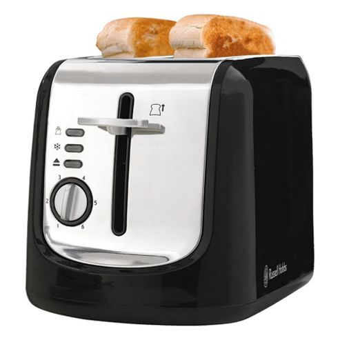 Russell Hobbs 14598 Toaster,Black With Polished Stainless Steel Ends