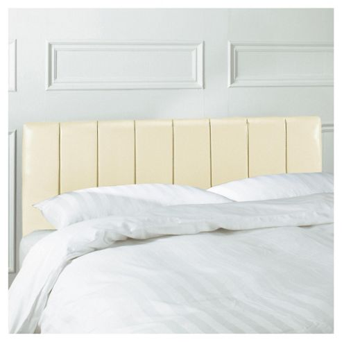 Seetall Haddon Headboard Cream Faux Leather King