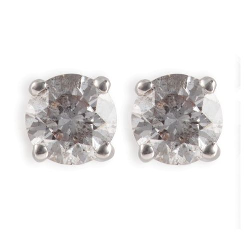 9ct White Gold 1/2ct Diamond Solitaire Earrings