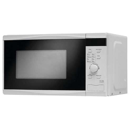 Tesco MT08 Touch 17L Solo Microwave, Black and White